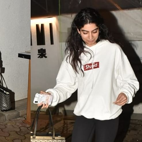 Get Khushi Kapoor's 'STUPID' hoodie for just Rs 1500; but can you afford her bag?