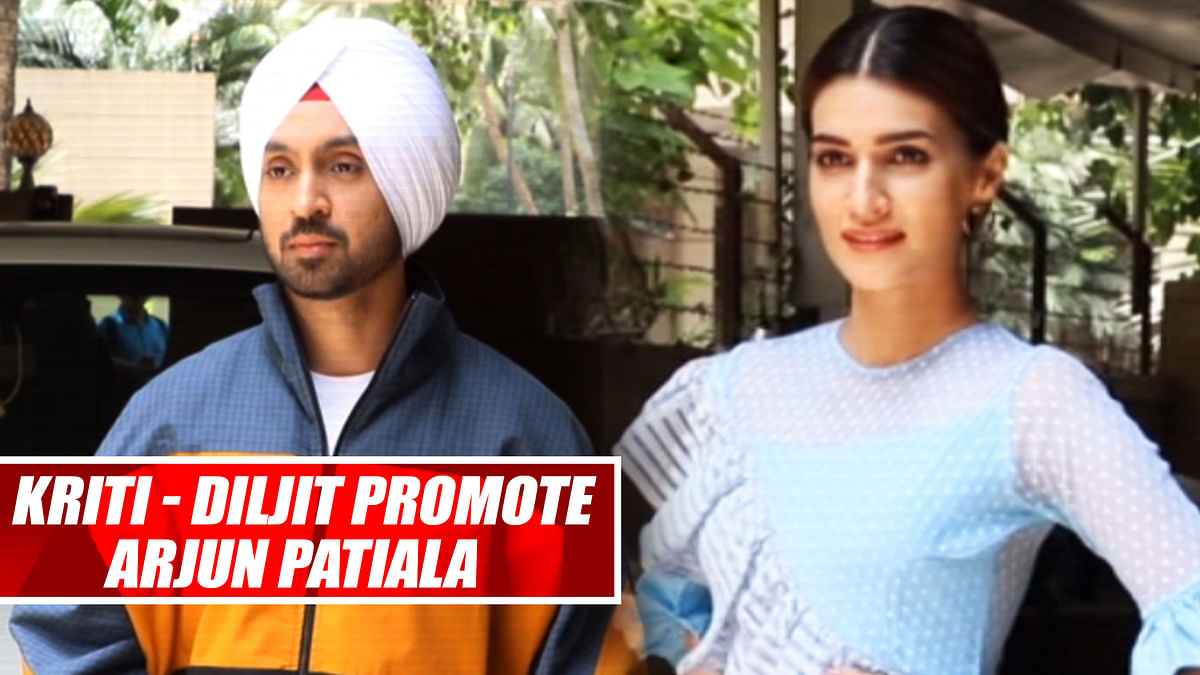 Kriti Sanon, Diljit Dosanjh Promote Upcoming Film 'Arjun Patiala'