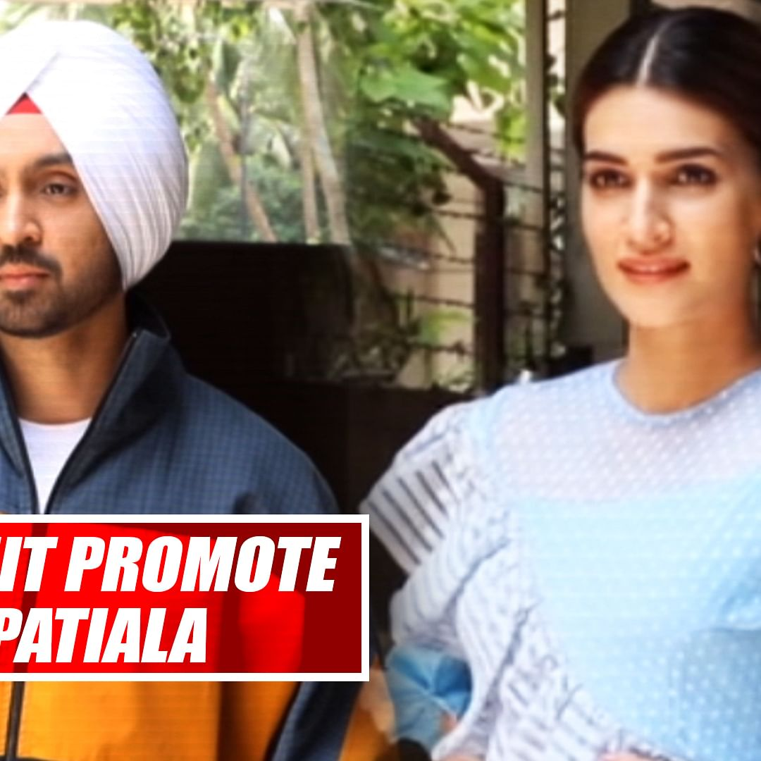Kriti Sanon, Diljit Dosanjh Promote Upcoming Film 'Arjun Patiala'