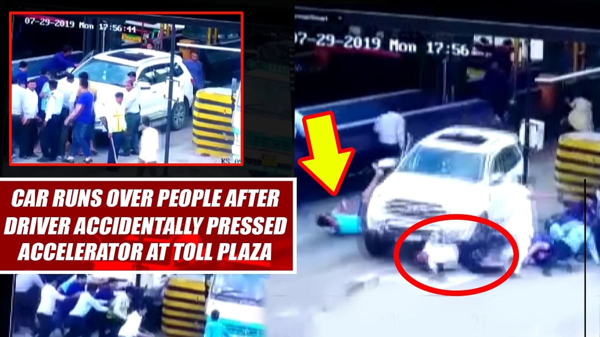 Watch: Car Runs Over People After Driver Accidentally Pressed Accelerator At Toll Plaza
