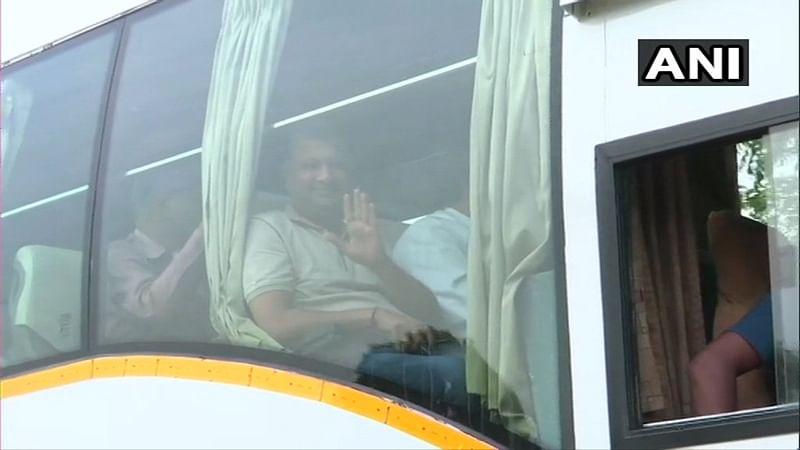 Gujarat: On day of Rajya Sabha polls, Congress MLAs leave for Gandhinagar
