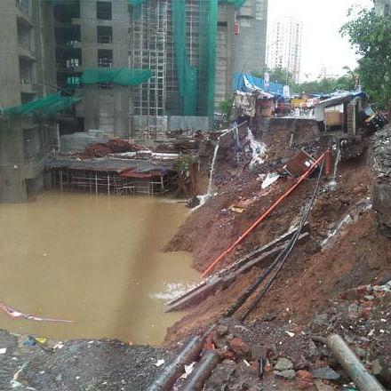 Mumbai Rains: Road caves in at Chandivli after BMC evacuates 1,000 residents