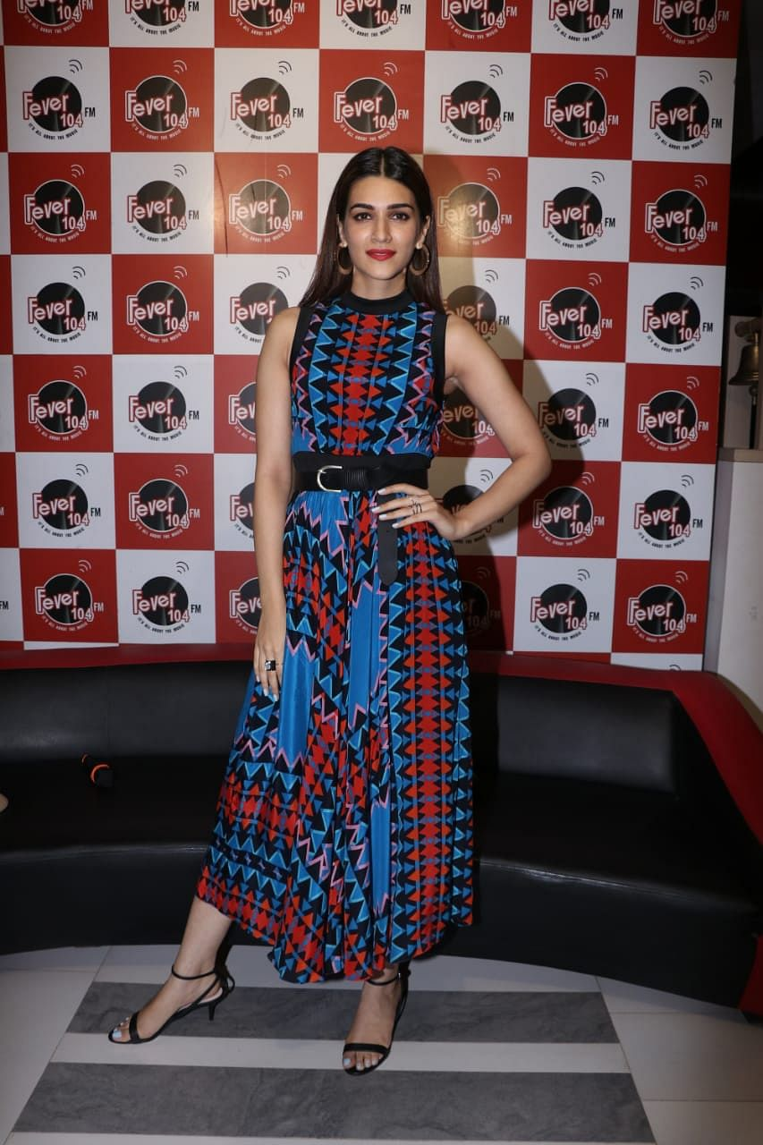Kriti Sanon  were at the song launch for their upcoming movie 'Arjun Patiala'.
