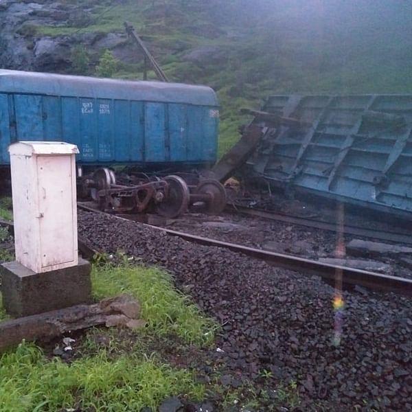 Goods train derails near Karjat-Lonavla section; 10 trains cancelled, 4 diverted