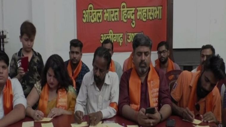Aligarh: Hindu Mahasabha activists send letters written in blood to PM Narendra Modi
