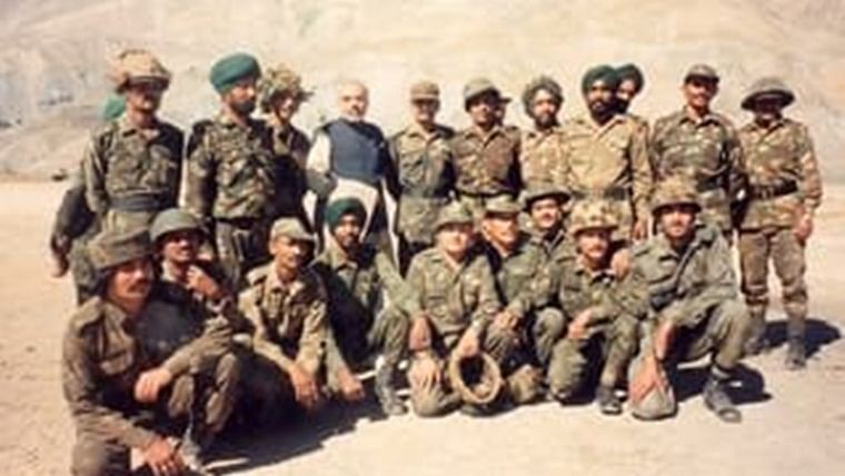 Flashback: When PM Modi visited Kargil and interacted with soldiers in 1999