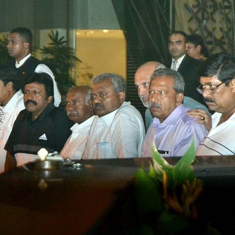 Karnataka rebel MLAs return to Mumbai after meeting assembly speaker in Bengaluru