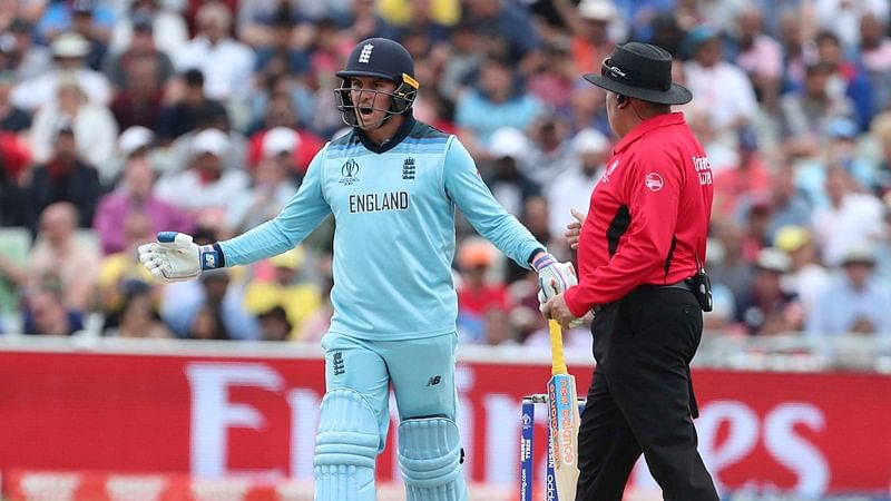 World Cup 2019: Jason Roy fined for showing dissent at umpire's decision during semi-final match against Australia