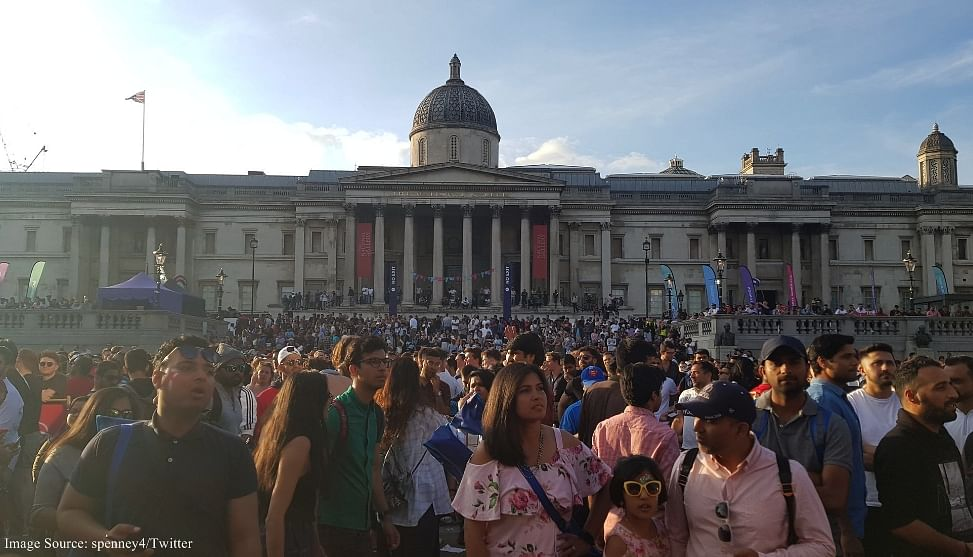 In pictures: Cricket fans go crazy at Trafalgar Square Fountain as England wins the World Cup