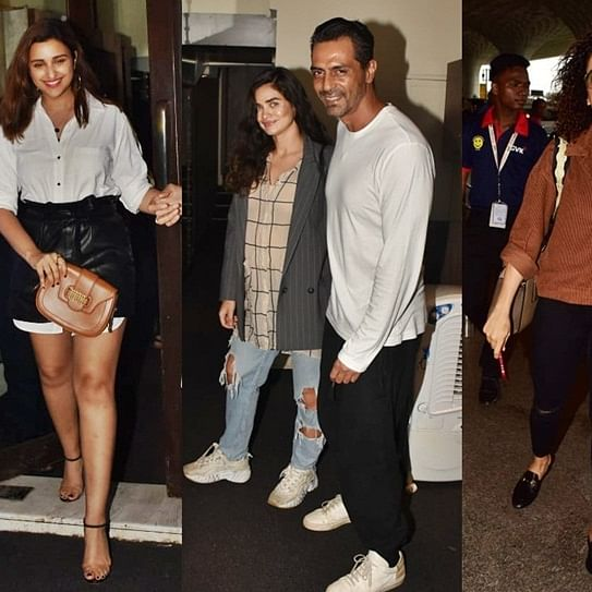 Paparazzi Diaries: Parineeti Chopra, Arjun Rampal, Sanya Malhotra clicked around Mumbai