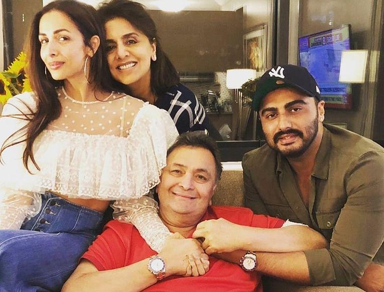 Malaika Arora, Arjun Kapoor visit Neetu and Rishi Kapoor in New York