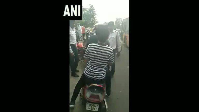 Man arrested for `misbehaving' with cops tests +ve