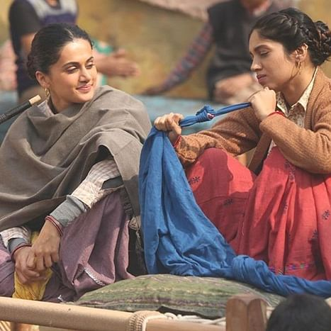 'What's cooking jiji?' Taapsee Pannu shares still from 'Saand Ki Aankh' sets