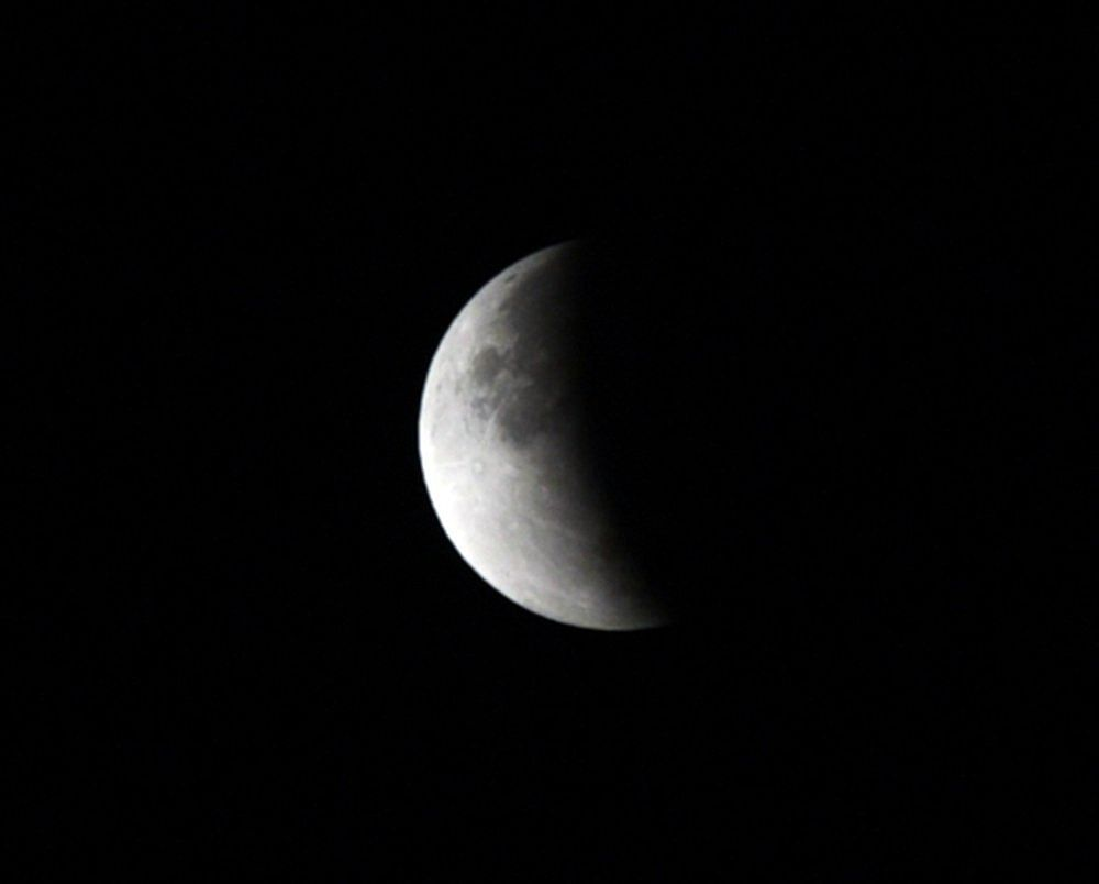 Partial Lunar Eclipse, as seen in the skies of Indore in the wee hours of Wednesday