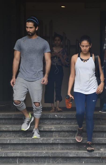 Shahid Kapoor and Mira Kapoor snapped at gym Juhu