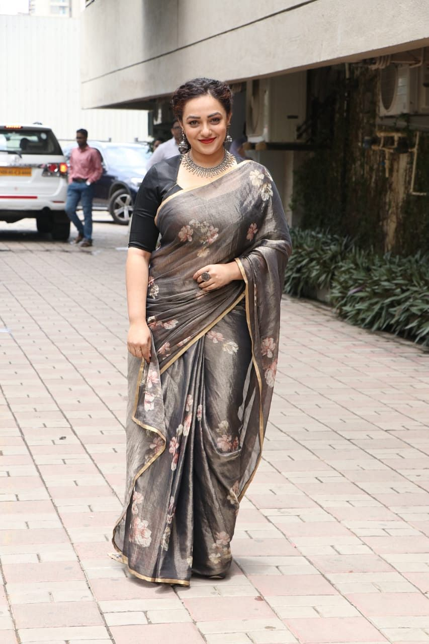 Nithya Menen at Mission Mangal's trailer launch at Fun Republic in Andheri.