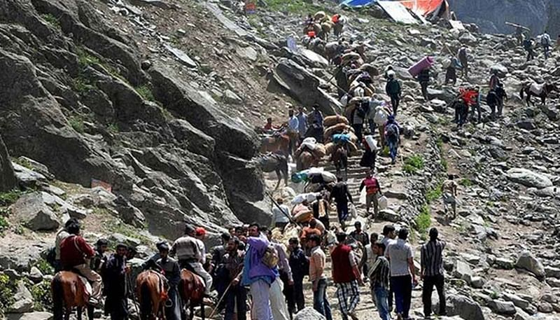 Amarnath Yatra resumes after daylong suspension
