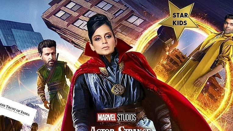 Kangana Ranaut in 'Doctor Strange' with Hrithik Roshan, Karan Johar?  Here's the movie poster