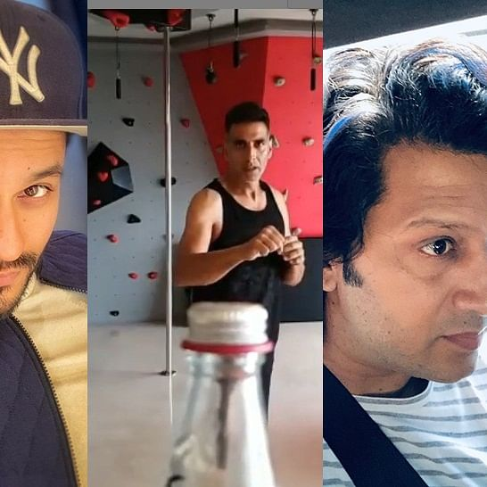 Watch Tiger Shroff, Kunal Kemmu, Riteish Deshmukh takes Bottle Cap Challenge to another level