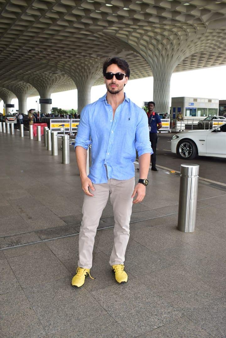 Tiger Shroff snapped at Mumbai airport today.