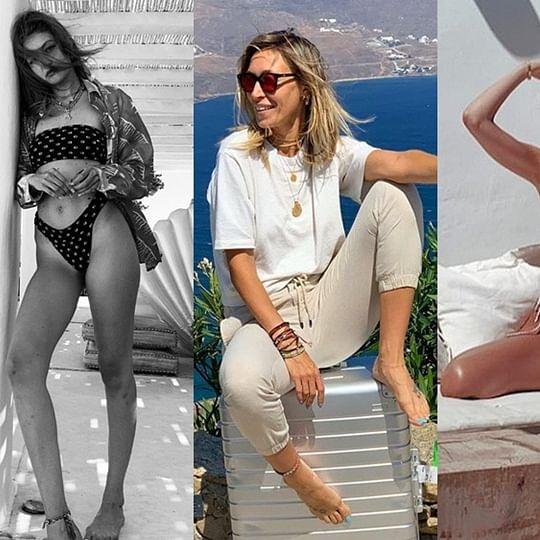 Gigi, Bella Hadid setting temperature high on sister's birthday in Greece