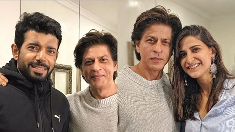 Shah Rukh Khan surprises Aahana and Viniineet on the sets of 'Betaal'