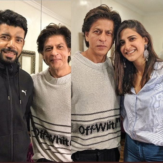 Shah Rukh Khan surprises Aahana and Viniineet on the sets of 'Betaal'