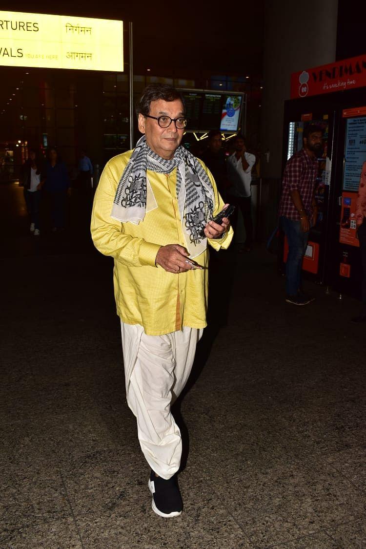 Subhash Ghai at Mumbai airport today.