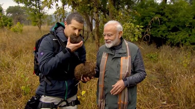 PM Modi urges followers to watch special episode of 'Man vs Wild' tonight