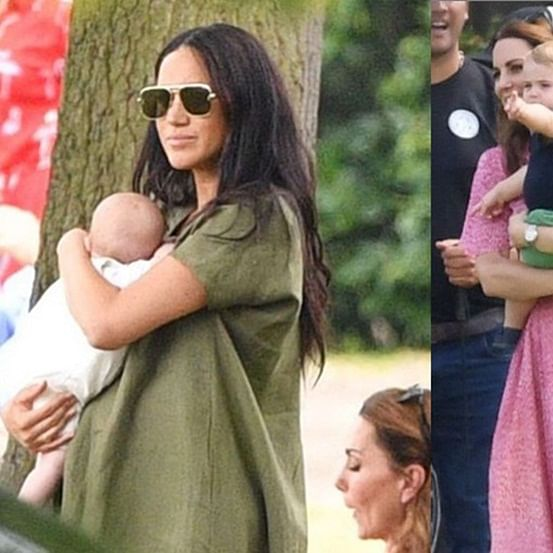 Royal babies Prince Archie, Prince Louis' First Playdate at charity Polo match
