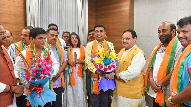 10 Congress MLAs from Goa formally join BJP, other allies jittery