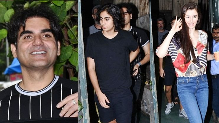 Watch Giorgia Adriani barge out of a restaurant leaving Arbaaz Khan with his son Arhaan