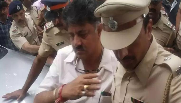 Mumbai police detains Karanataka Minister D K Shivakumar