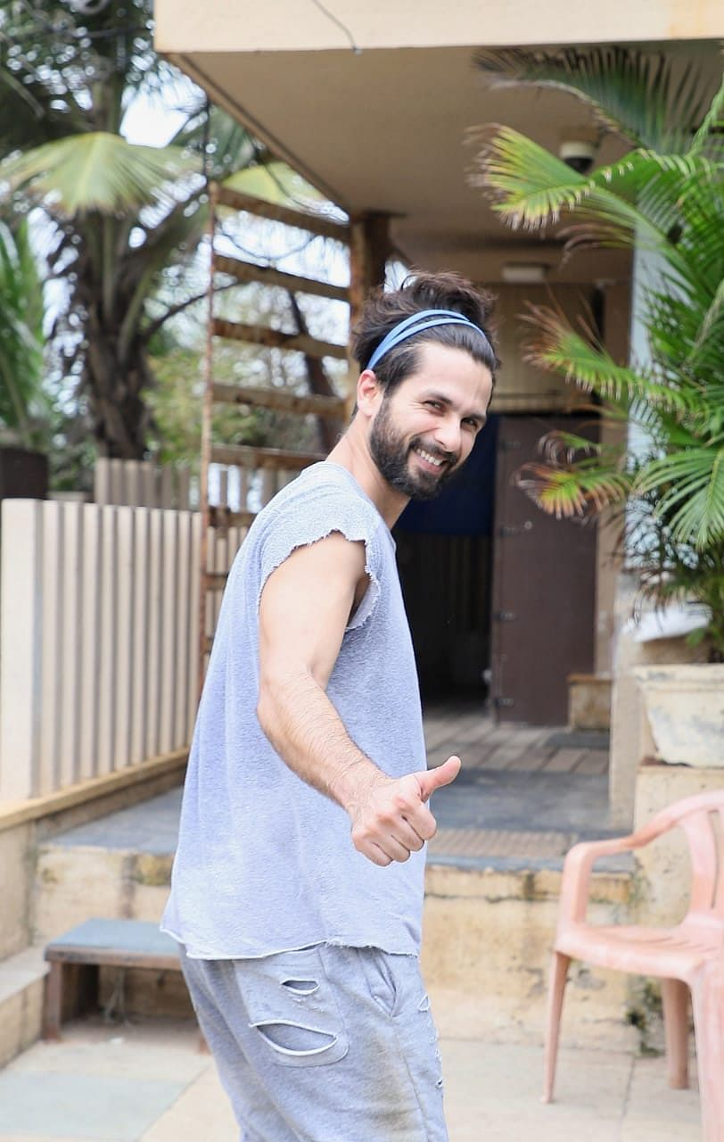 Shahid Kapoor after his workout sessions.
