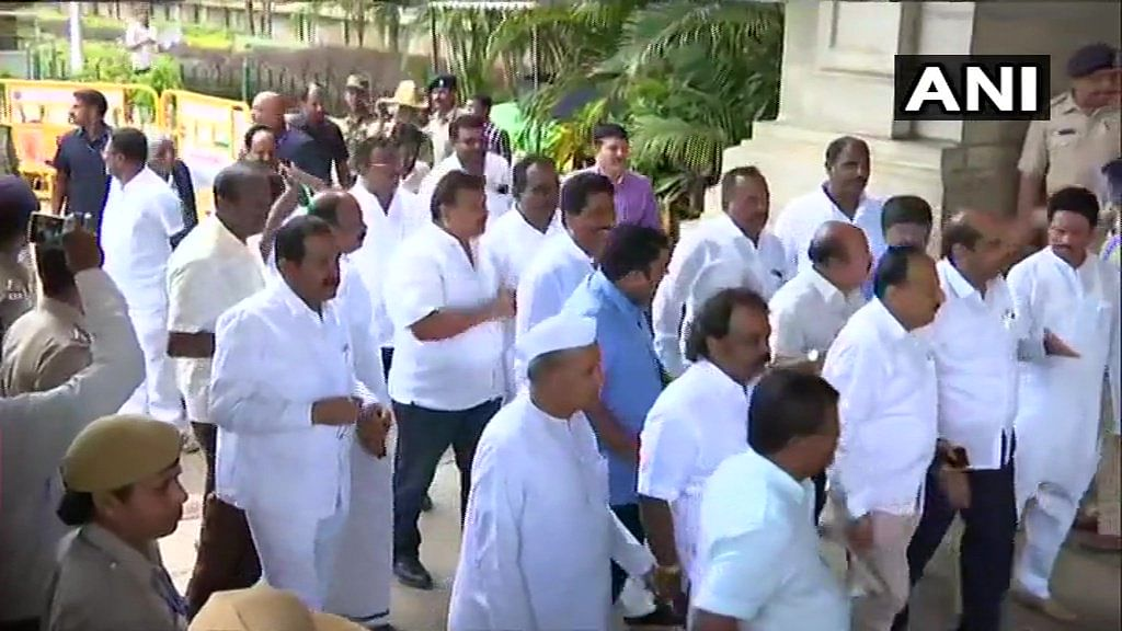 Karnataka crisis: 13 rebel MLAs write to Speaker, seek four weeks' time to appear before him