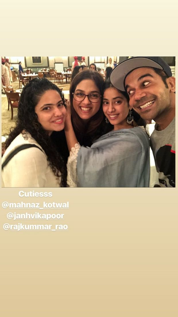 Janhvi Kapoor and Rajkummar Rao are happy souls post the Agra schedule wrap up of RoohiAfza