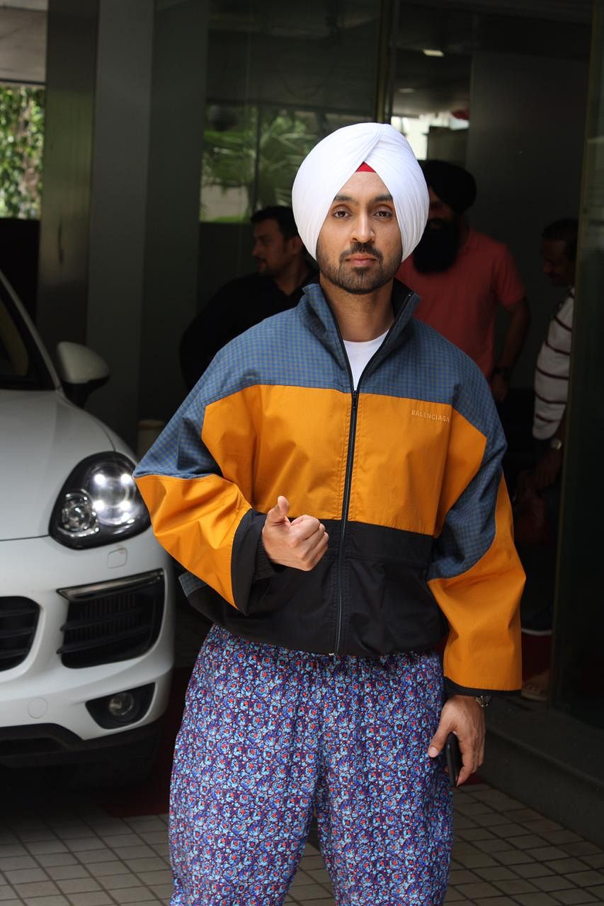 Diljit Dosanjh at Arjun Patiala' promotion in the city.