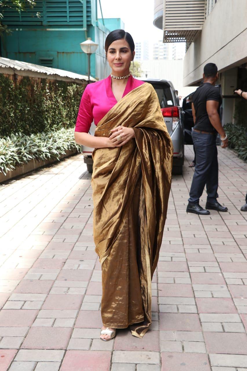 Kriti Kulhari at Mission Mangal's trailer launch at Fun Republic in Andheri.