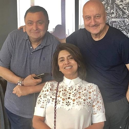 Anupam Kher hosts lunch for Neetu and Rishi Kapoor in New York