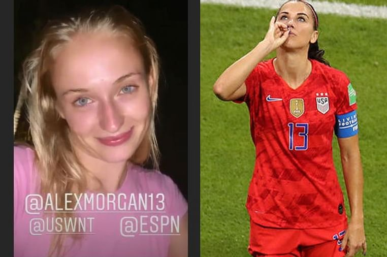 Sophie Turner comes to Alex Morgan's rescue amid backlash