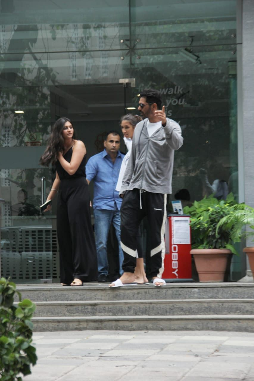 Arjun Rampal with daughter spotted outside Hinduja Hospital in Mumbai
