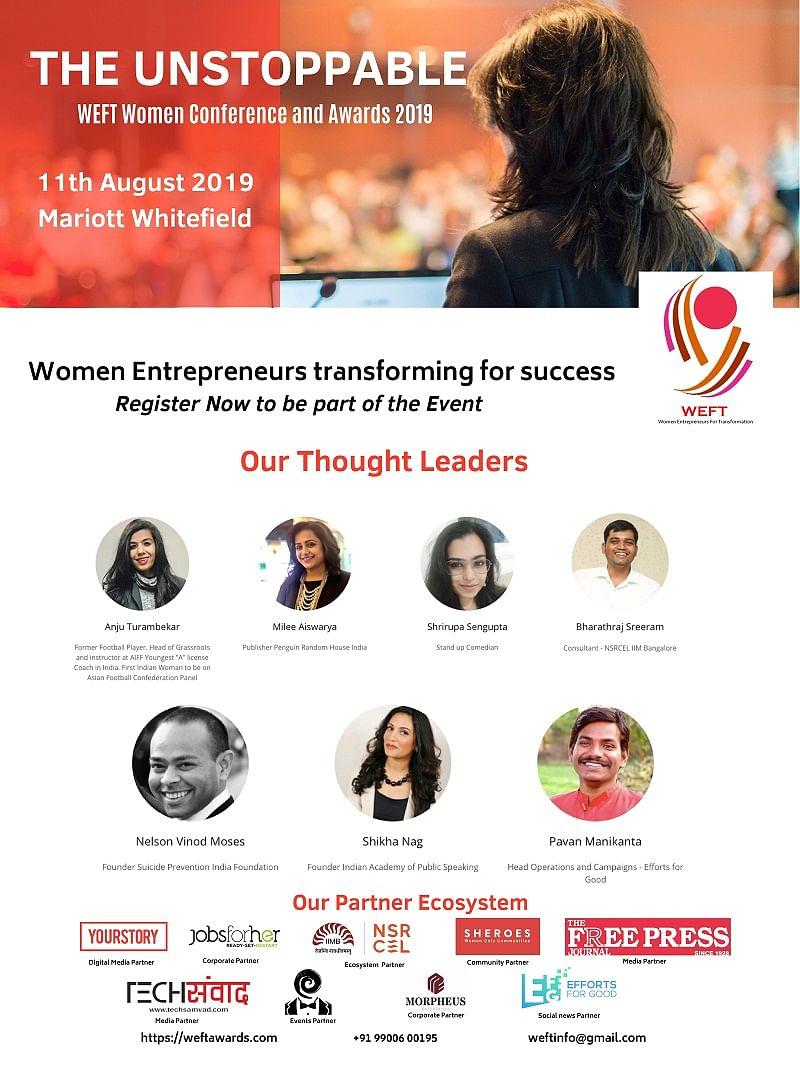 WEFT Annual Awards to Kickstart In Bangalore for Women Entrepreneurs