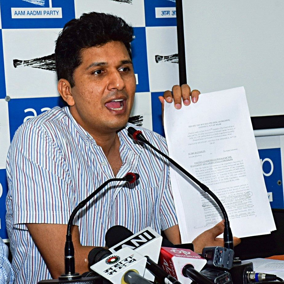 Rebel MLAs said they are with party, says spokesperson of AAP, Saurabh Bharadwaj