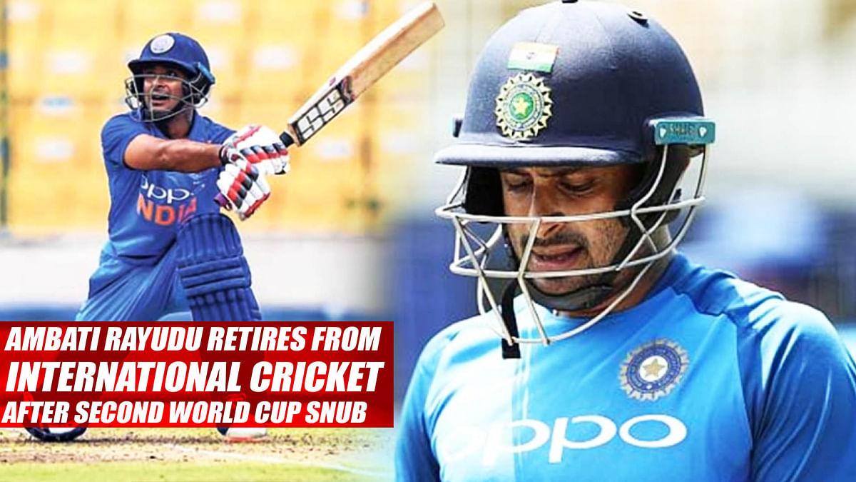 Ambati Rayudu Retires From International Cricket After Second World Cup Snub