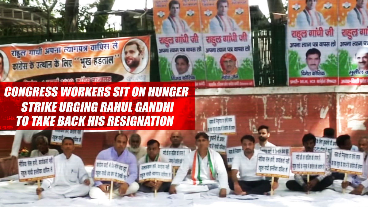 Congress Workers Sit On Hunger Strike Urging Rahul Gandhi To Take Back His Resignation