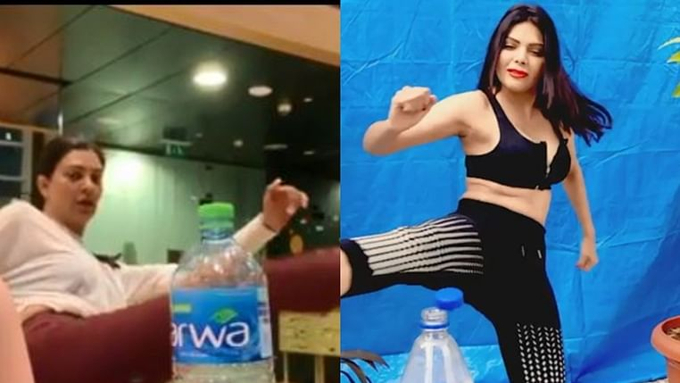 B-Town ladies takes on the Bottle Cap challenge: Sushmita, Sherlyn take it to the next level