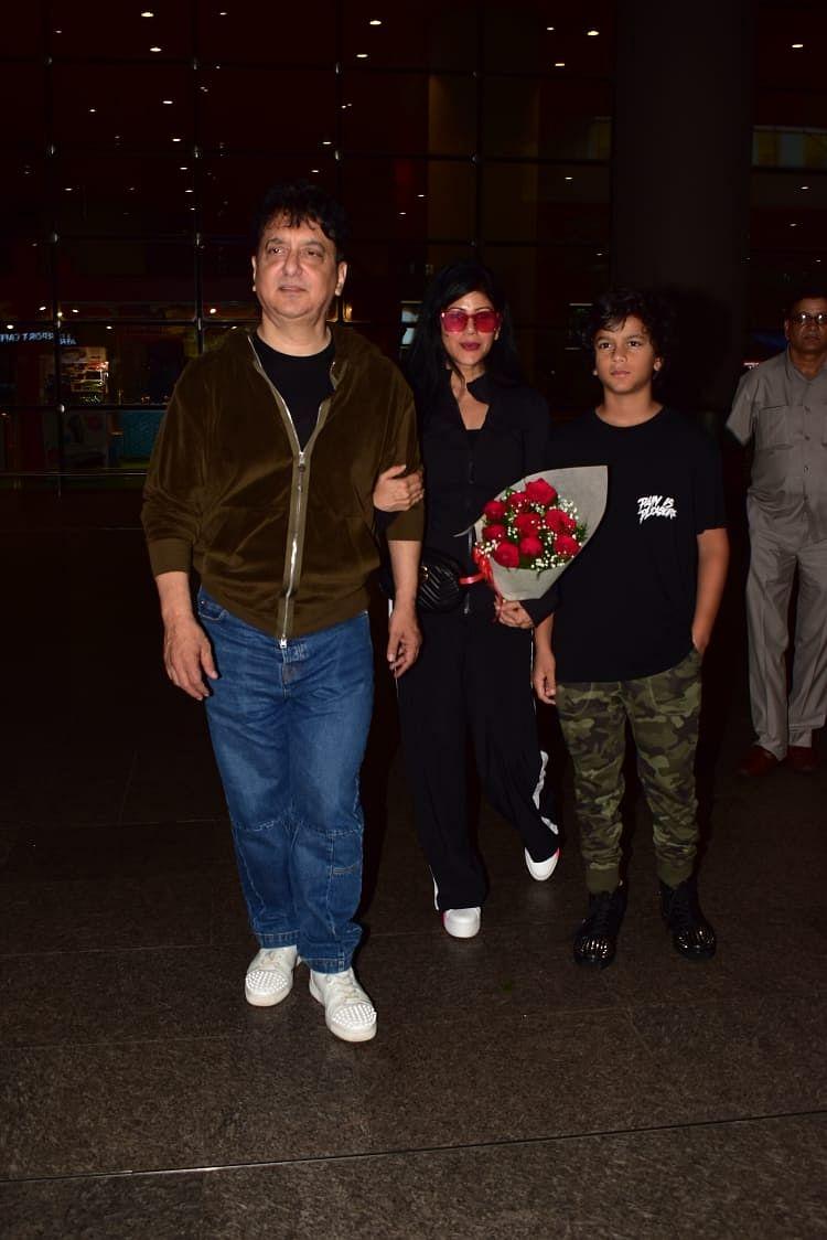 Sajid Nadiadwala and Family back from London