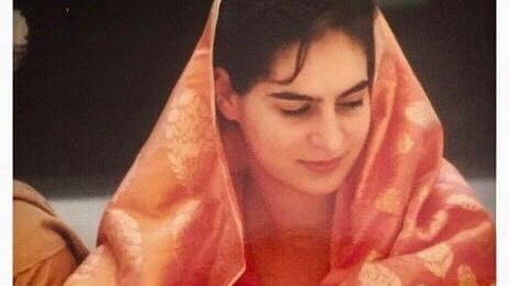 #SareeTwitter: Priyanka Gandhi shares serene picture of wedding day