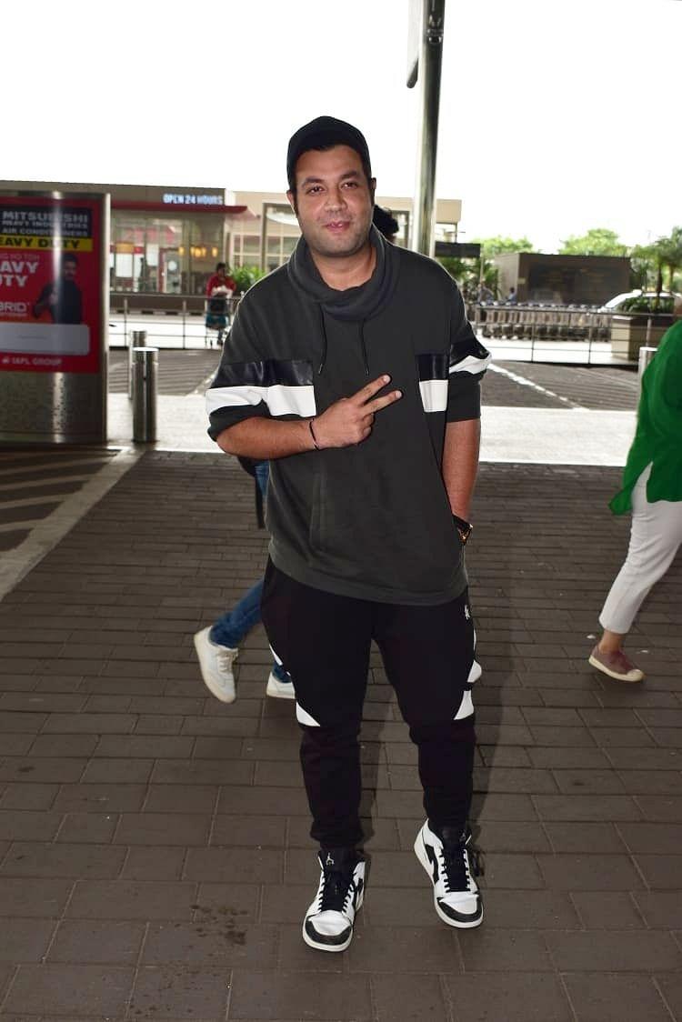 'Khandaani Shafakhana' actor Varun Sharma clicked by media at the airport today morning.