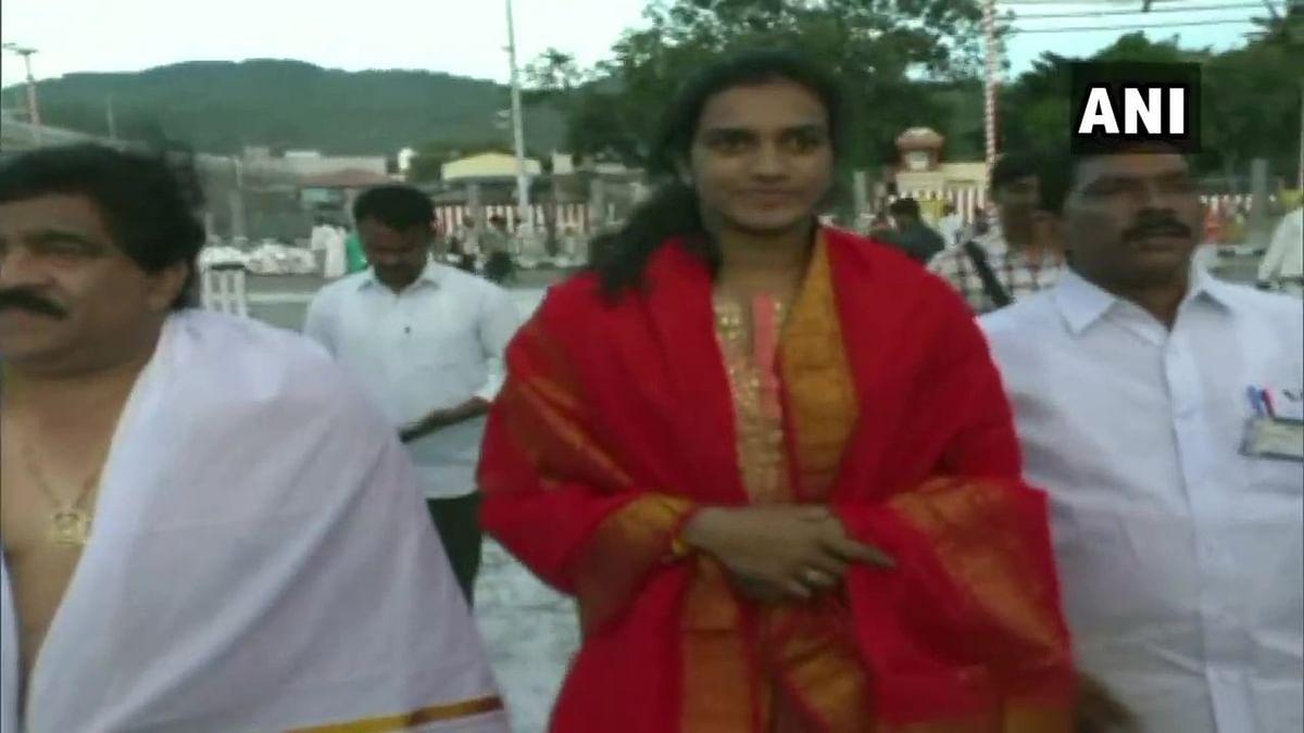 PV Sindhu pays thanksgiving visit to Lord Venkateswara temple in Tirupati